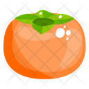 Persimmon Fruit Healthy Food Icon
