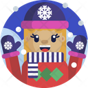 Christmas Gloves Hat Icon