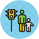 Person On Traffic Icon