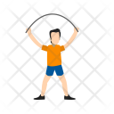Person Skipping Rope Icon