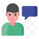 Person Chatting Comments Talking Concept Icon