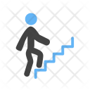 Person Climbing Stairs Icon