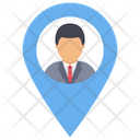 Person Location Pin Point Icon