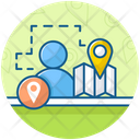 Person Tracker Gps Navigation Icon