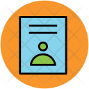 Personal Document Cv Icon