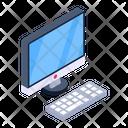 Personal Computer Monitor Display Icon