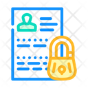 Personal Data Protection Personal Data Icon