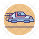 Personal Hovercar Hoverboard Car Icon