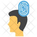 Personal Identity Biometric Thumb Scanning Icon