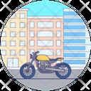 Personal Motorbike Scooter Bike Icon