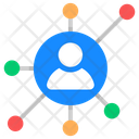 Personal Network Personal Connections Personal Links Icon