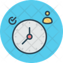 Personal Scheduler Clock Management Icon