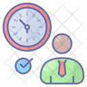 Personal Scheduler Punctuality Clock Icon