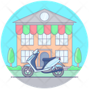 Personal Scooty Motorbike Scooter Icon