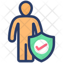 Personal Security Confidentiality Insurance Icon