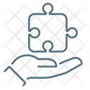 Personal Solution Hand Puzzle Icon