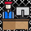 Personnel Desk Office Desk Working Desk Icon