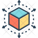Perspective Cube Connection Icon