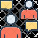 Persuasive Negotiation Conversation Icon