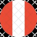 Peru Flag Country Icon