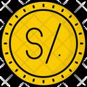Peru Sol Coin Money Icon