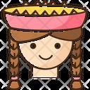 Peruvian Girl Icon