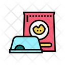 Pet Food Bowl Icon