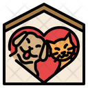 Pet Charity Animal Rescue Pet Adoption Adopt Animal House Kennel Shelter Pet Cat Icon