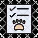 Pet Report Checklist Icon