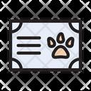 Pet Certificate Animal Icon