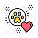 Pet Paw Love Icon