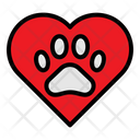 Love Pet Paw Icon