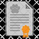 Certificate Animal Pet Icon