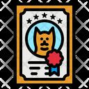 Pet Certificate Icon