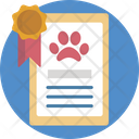 Certificate Animal Care Icon