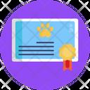 Pet Certificate Certificate Animal Care Icon