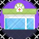 Pet Clinic Pet Hospital Healthcare Icon