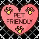 Pet Friendly Area Sign Icon