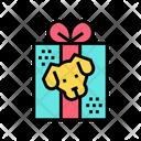 Dog Present Donation Icon