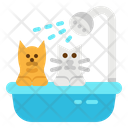 Grooming Shower Dog Icon