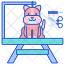 Pet Grooming Table Icon