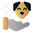 Pet Lover Dog Hand Icon
