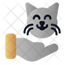 Pet Lover Cat Hand Icon