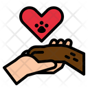 Hand Solidarity Pawprint Icon