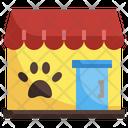 Pet Shop Pet House Paws Icon