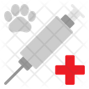 Vaccine Pet Paw Icon