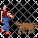Pet Walker Dog Walk Jogging Icon