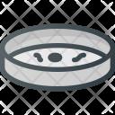 Petri Dish Microscope Icon