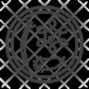 Petri Dish Bacteria Icon