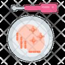 Petri Dish Bacteria Infection Icon
